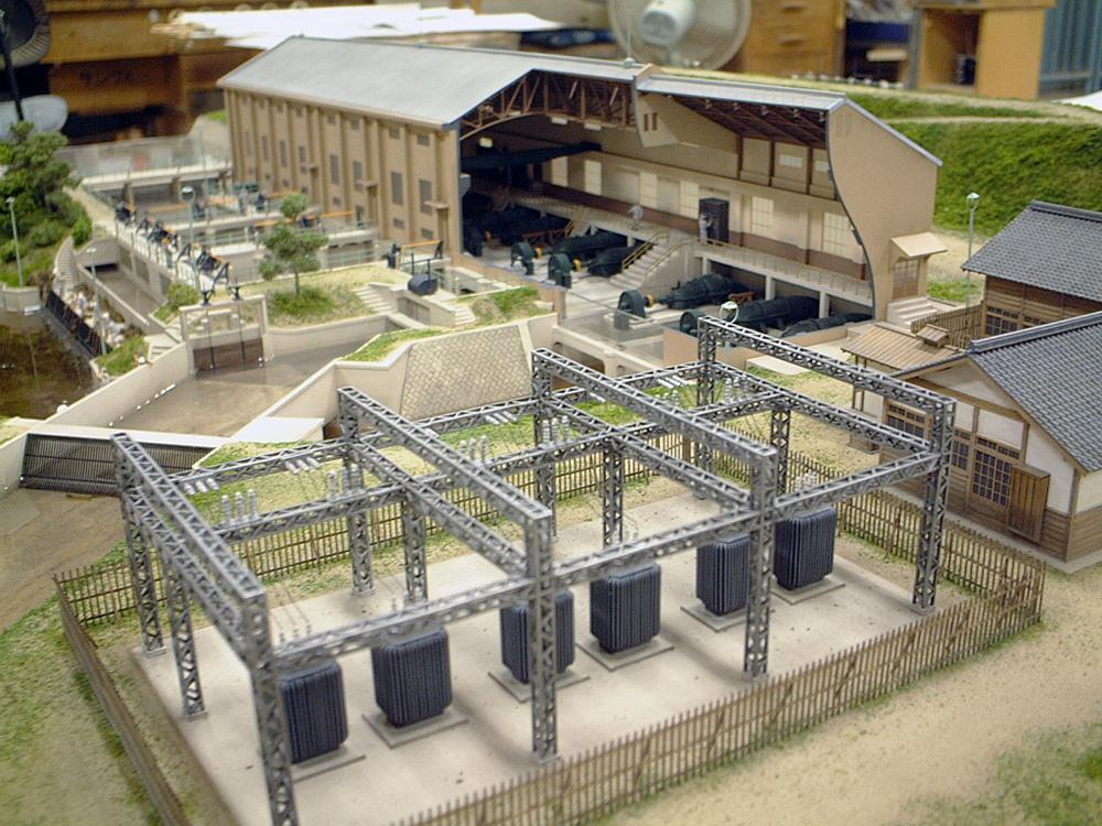 巨椋池排水機場模型 │ 縮尺:1/100