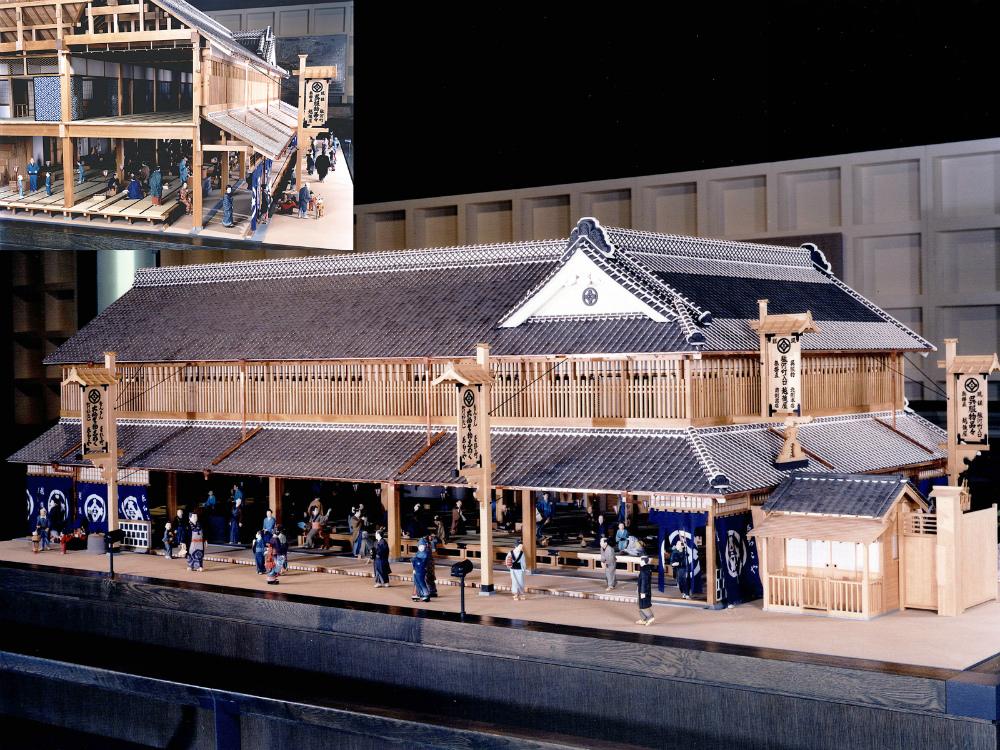 三井越後屋復元模型 │ 縮尺:1/10 │ 江戸東京博物館