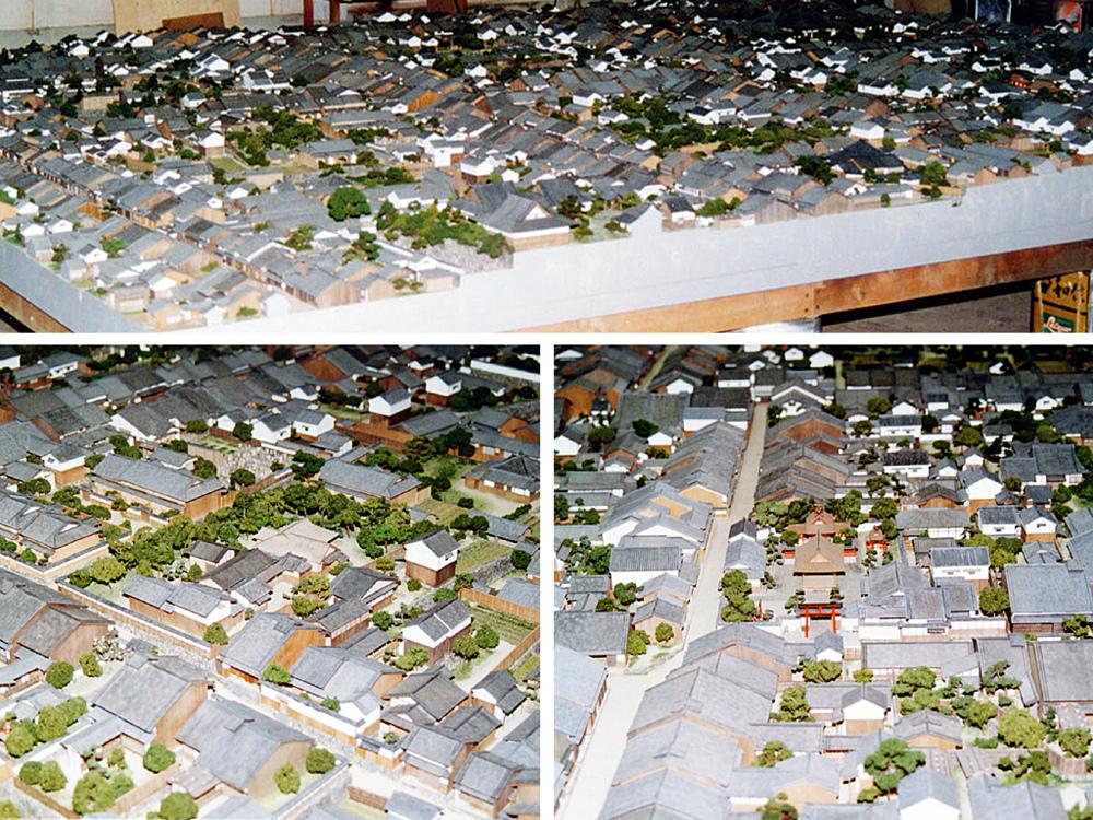 奈良町町並模型 │ 縮尺:1/100