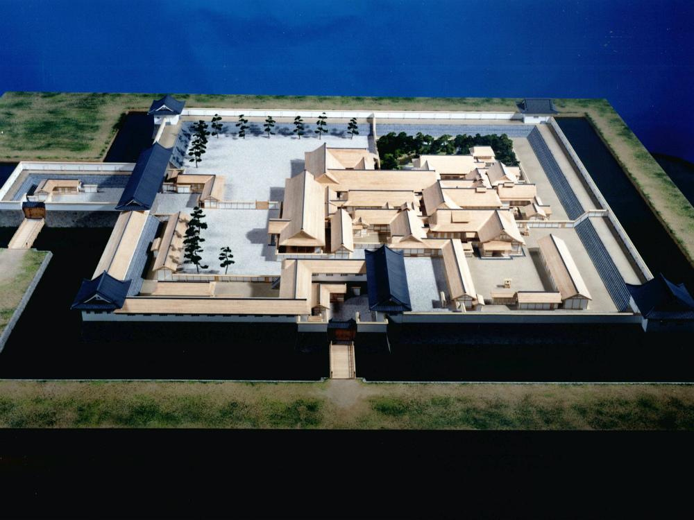 水口城復元模型 │ 縮尺:1/100 │ 水口城内