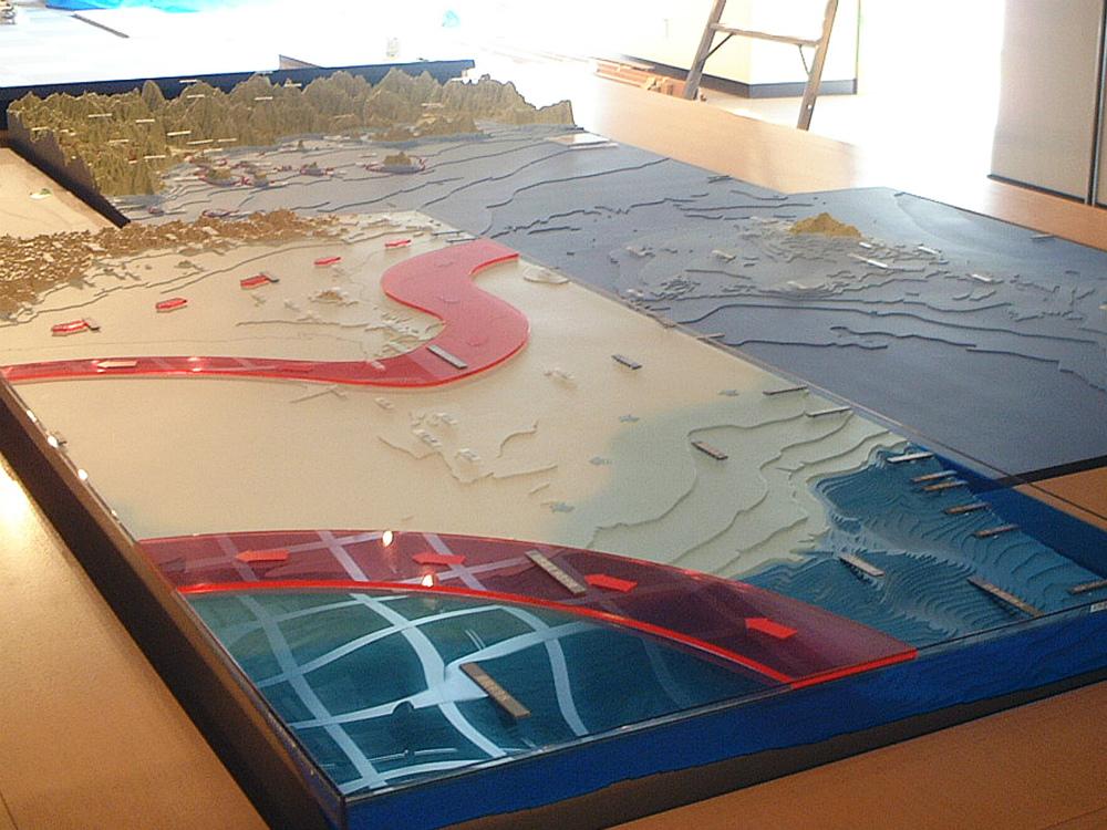 海底地形模型 │ 縮尺:1/30000・100000 │ 萩市立萩博物館