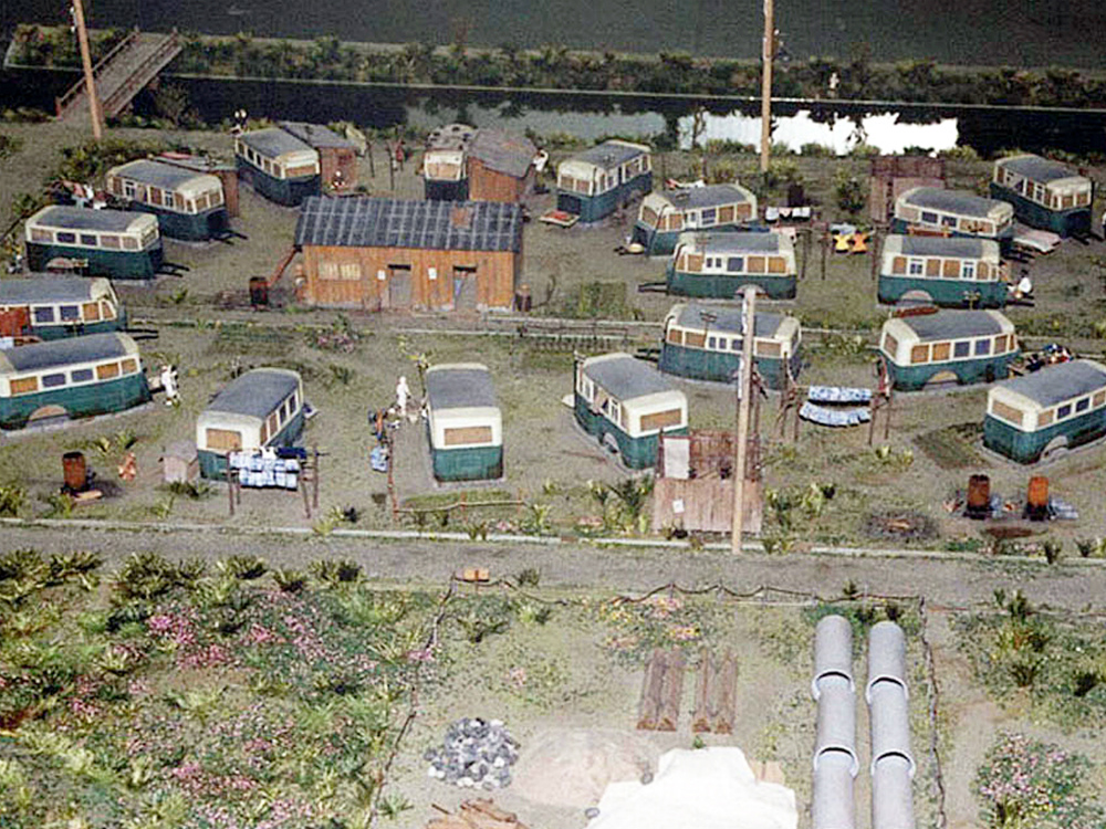 バス住宅模型 │ 縮尺:1/50 │ 住まいのミュージアム・大阪暮らしの今昔館