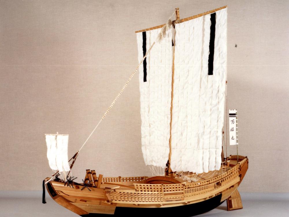 北前船復元模型 │ 縮尺:1/10 │ 国立歴史民俗博物館(文化庁)